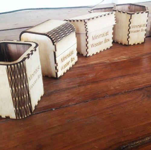 กล่องไม้ตัดเลเซอร์หลายรูปแบบ