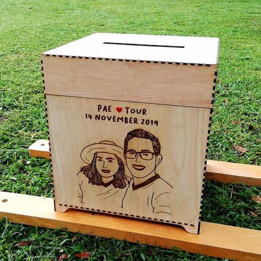 กล่องไม้ใส่ซองงานแต่ง