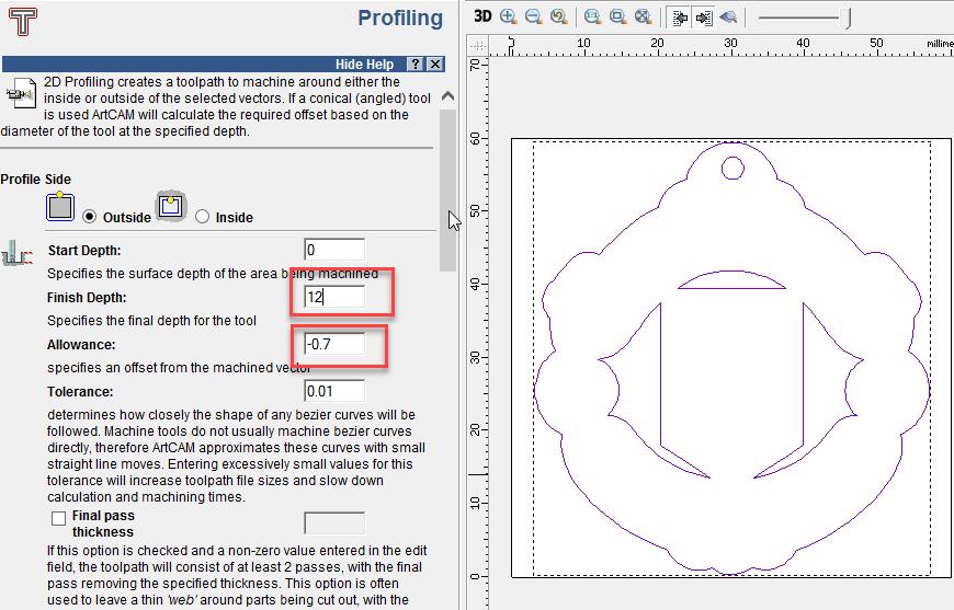 สร้างรหัส G-code และ M-code ใน ArtCAM
