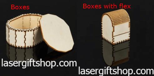 ความแตกต่าง กล่องไม้ แบบขอบตัดและขอบโค้ง