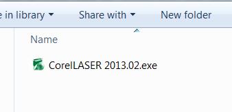 CorelLaser File setup