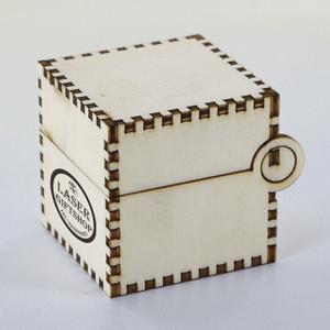 ตัวอย่าง กล่องไม้ integrated hinge box
