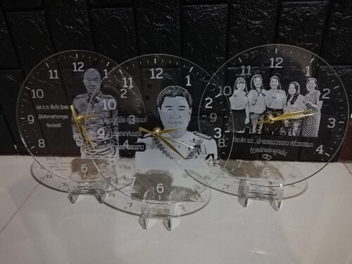 clock laser acrylic